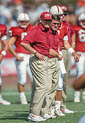 COLLEGE FOOTBALL:  Stanford Head Coach Bill Walsh on the field prior to the Stanford vs Notre Dame game played on October 2, 1993 at Stanford Stadium in Palo Alto, California.  Photograph by David Madison (www.davidmadison.com).