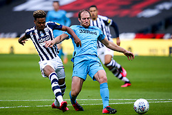 Matthew Clarke of Derby County takes on Grady Diangana of West Bromwich Albion - Mandatory by-line: Robbie Stephenson/JMP - 08/07/2020 - FOOTBALL - The Hawthorns - West Bromwich, England - West Bromwich Albion v Derby County - Sky Bet Championship