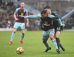 Aaron Lennon of Burnley (L) and Brahim Diaz of Manchester City in action - Mandatory by-line: Jack Phillips/JMP - 03/02/2018 - FOOTBALL - Turf Moor - Burnley, England - Burnley v Manchester City - English Premier League