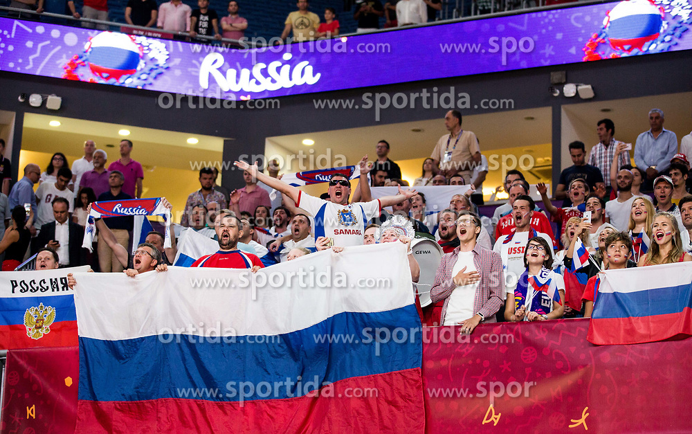 Supporters of Russia during basketball match between National Teams of Russia and Serbia at Day 16 in Semifinal of the FIBA EuroBasket 2017 at Sinan Erdem Dome in Istanbul, Turkey on September 15, 2017. Photo by Vid Ponikvar / Sportida