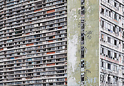 Edifício São Vito, on the eastern edge of São Paulo's downtown. The building was abandoned and then invaded by squatters. It is sometimes referred to as a vertical favela. São Paulo, Brazil, 2008