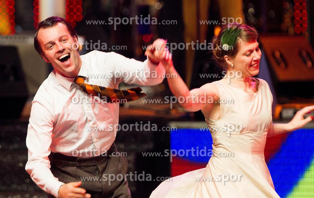 Kjara dance group perform at Slovenian Sports personality of the year 2012 annual awards presented on the base of Slovenian sports reporters, on December 20, 2011 in Cankarjev dom, Ljubljana, Slovenia. (Photo By Vid Ponikvar / Sportida.com)