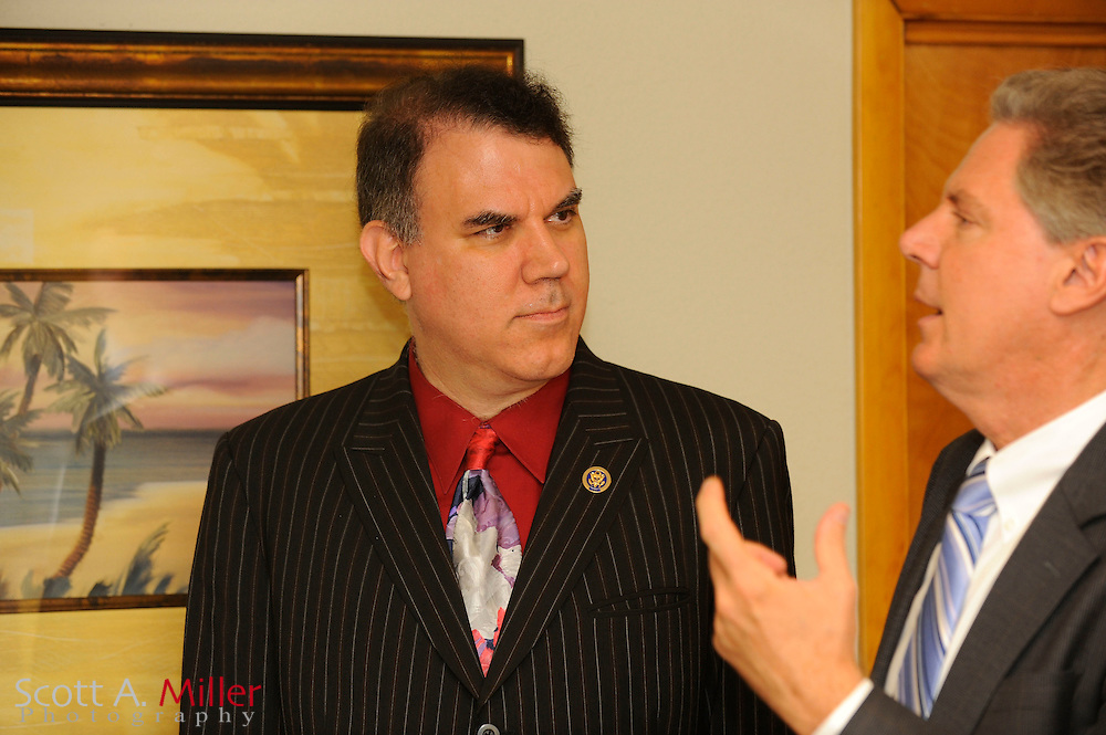 ORLANDO, FLORIDA, August 20, 2009 : U.S. Rep. Alan Grayson (D-Fl) and Frank Pallone Jr. (D-N.J.) visiting the Rosen employee health care facility. The trip was part of a health care forum at Rosen Shingle Creek Resort in Orlando, Fla..© 2009 Scott A. Miller