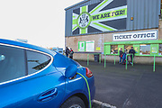 Ticket office and car charging during the EFL Sky Bet League 2 match between Forest Green Rovers and Walsall at the New Lawn, Forest Green, United Kingdom on 8 February 2020.