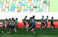 20120328: LISBON, PORTUGAL - Football - UEFA Europe League 2011/2012 - Quarter-finals, First leg: Sporting CP vs Metalist - Metalist training in Sporting Stadium.<br />In photo: Metalist Team.<br />PHOTO: Alvaro Isidoro/CITYFILES