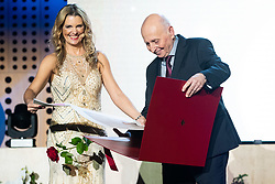 Bernarda Zarn and Vladimir Cermak at 55th Annual Awards of Stanko Bloudek for sports achievements in Slovenia in year 2018 on February 4, 2020 in Brdo Congress Center, Kranj , Slovenia. Photo by Grega Valancic / Sportida