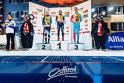 17.01.2020, Hauptplatz, Lienz, AUT, Dolomitenlauf, Dolomitensprint, im Bild v.l.: Franz Theurl (TVB Obmann und Organisator), 2. Platz Lisa Achleitner (AUT), 1. Platz Alice CANDLINI (ITA), 3. Platz Anna Maria Woerndle (AUT) // during the Dolomitenlauf Dolomitensprint at the main square, Lienz, Austria on 2020/01/17, EXPA Pictures © 2020 PhotoCredit: EXPA/ Dominik Angerer