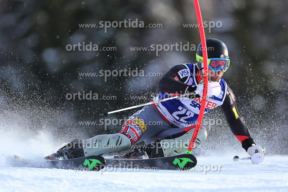 06.01.2014, Stelvio, Bormio, ITA, FIS Weltcup Ski Alpin, Bormio, Slalom, Herren, im Bild David Chodounsky // David Chodounsky  in action during mens Slalom of the Bormio FIS Ski World Cup at the Stelvio in Bormio, Italy on 2014/01/06. EXPA Pictures © 2014, PhotoCredit: EXPA/ Sammy Minkoff<br /> <br /> *****ATTENTION - OUT of GER*****