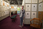 A cardboard cutout of Hillary Clinton at the National Women's Hall of Fame in Seneca Falls, New York on Thursday, November 17, 2016. Mrs. Clinton was inducted into the Hall in 2005.