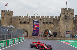 April 28, 2018 - Baku, Azerbaijan - Kimi Räikkönen of Finland and Scuderia Ferrari driver goes during the qualifying session at Azerbaijan Formula 1 Grand Prix on Apr 28, 2018 in Baku, Azerbaijan. (Credit Image: © Robert Szaniszlo/NurPhoto via ZUMA Press)