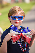 A young boy wears a patriotic costume during the Sullivan's Island Independence Day parade July 4, 2015 in Sullivan's Island, South Carolina.