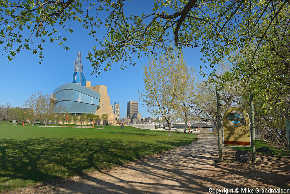 Canadian Museum for Human Rights (CMHR) in spring<br /> Winnipeg<br /> Manitoba<br /> Canada
