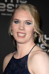 The Best FIFA Women's Goalkeeper award finalist Hedvig Lindahl of Wolfsburg and Sweden attends the green carpet prior to The Best FIFA Football Awards 2019 at the Teatro Alla Scala on September 23, 2019 in Milan, Italy. Photo by David Niviere/ABACAPRESS.COM