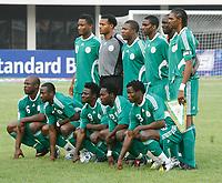Photo: Steve Bond/Richard Lane Photography.<br />Nigeria v Ivory Coast. Africa Cup of Nations. 21/01/2008. Nigeria line up