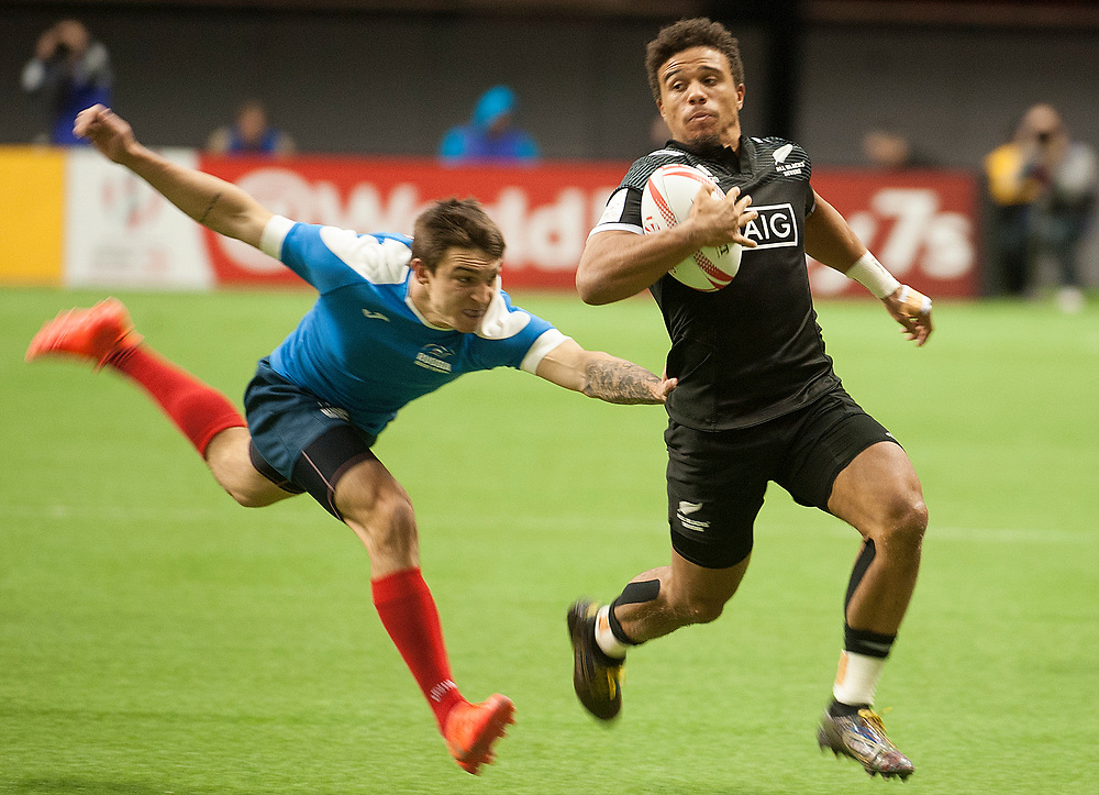 New Zealand play Russia during the pool stages of the Canada Sevens,  Round Six of the World Rugby HSBC Sevens Series in Vancouver, British Columbia, Saturday March 11, 2017. <br /> <br /> Jack Megaw.<br /> <br /> www.jackmegaw.com<br /> <br /> jack@jackmegaw.com<br /> @jackmegawphoto<br /> [US] +1 610.764.3094<br /> [UK] +44 07481 764811