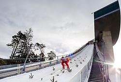 03.01.2013, Bergisel Schanze, Innsbruck, AUT, FIS Ski Sprung Weltcup, 61. Vierschanzentournee, Training, im Bild Ilja Rosliakov (RUS) // Ilja Rosliakov of Russia during practice Jump of 61th Four Hills Tournament of FIS Ski Jumping World Cup at the Bergisel Schanze, Innsbruck, Austria on 2013/01/03. EXPA Pictures © 2012, PhotoCredit: EXPA/ Juergen Feichter