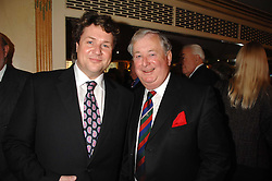 Left to right, singer MICHAEL BALL and his father TONY BALL at a tribute lunch for Elaine Paige hosted by the Lady Taverners at The Dorchester, Park Lane, London on 13th November 2007.<br /><br />NON EXCLUSIVE - WORLD RIGHTS
