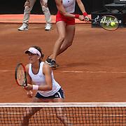 Roma 19/05/2018 Foro Italico <br /> Internazionali BNL d'Italia 2018<br /> doppio femminile<br /> Andrea SESTINI HLAVACKOVA e Barbora STRYCOVA