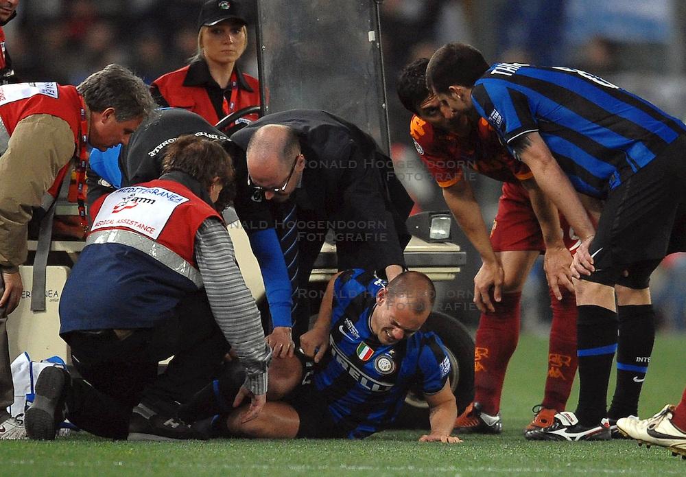 05-05-2010 VOETBAL: COPPA ITALIA AS ROMA - INTER MILAAN: ROMA<br /> Inter wint de finale Coppa Italia van Roma / Wesley SNEIJDER<br /> &copy;2010-FRH-nph / Antonietta Baldassarre