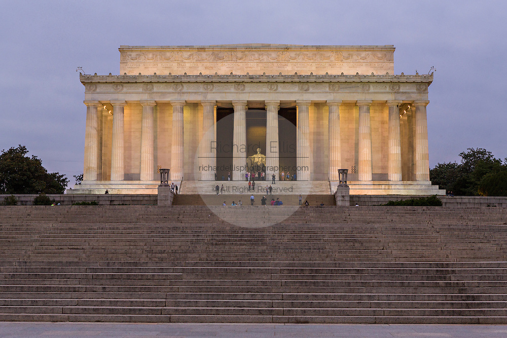 Lincoln Memorial at dawn in Washington, DC.