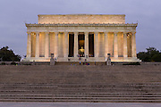 Lincoln Memorial at dawn in Washington, DC.