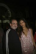 Padma Lashki and Salman Rushdie,  Quintessentially Summer party, Debenham House. Addison Rd. London. 15 June 2006. ONE TIME USE ONLY - DO NOT ARCHIVE  © Copyright Photograph by Dafydd Jones 66 Stockwell Park Rd. London SW9 0DA Tel 020 7733 0108 www.dafjones.com