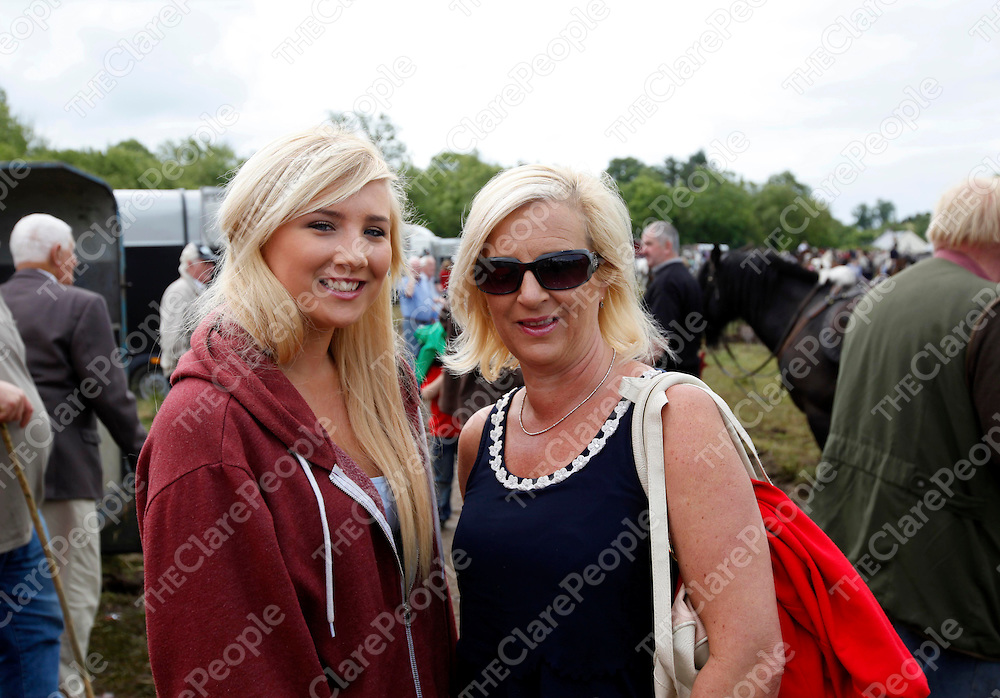 24/6/13 Attending the Spancilhill Horse Fair were Sarah Claffey and Jillian McDonagh Claffey. Pic Tony Grehan / Press 22