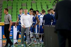 KK Rogaska during basketball match between KK Petrol Olimpija and KK Rogaska in 1st Semifinal match of Liga Nova KBM 2017/18, on May 9, 2018, in Arena Stozice, Ljubljana, Slovenia. Photo by Urban Urbanc / Sportida