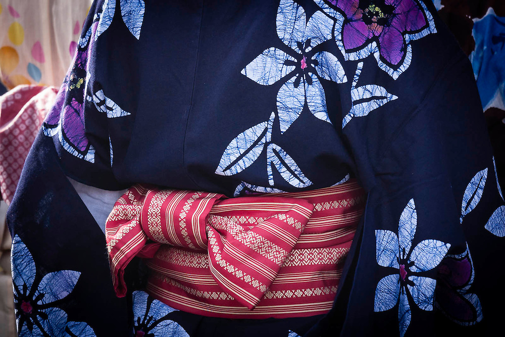 Japanese traditional obi and kimono
