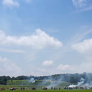 during the Sesquicentennial Anniversary of the Battle of Gettysburg, Pennsylvania on Sunday, June 30, 2013.  A pivotal moment in the Civil War, over 50,000 soldiers were killed, wounded or missing after 3 days of battle from July 1-3, 1863.  Later that year, President Abraham Lincoln returned to Gettysburg to deliver his now famous Gettysburg Address to dedicate the cemetery there for the Union soldiers who died in battle.  John Boal photography