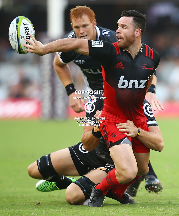 DURBAN, SOUTH AFRICA - MARCH 26: Ryan Crotty of the BNZ Crusaders during the Super Rugby match between Cell C Sharks and BNZ Crusaders at Growthpoint Kings Park on March 26, 2016 in Durban, South Africa. (Photo by Steve Haag/Gallo Images)