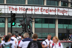 England fans arrive at Twickenham before kick off  - Mandatory by-line: Ryan Hiscott/JMP - 27/05/2018 - RUGBY - Twickenham Stadium - London, England - England v Barbarians - Quilter Cup