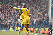 Leeds United Defender, Souleymane Bamba celebrates his goal during the Sky Bet Championship match between Blackburn Rovers and Leeds United at Ewood Park, Blackburn, England on 12 March 2016. Photo by Mark Pollitt.