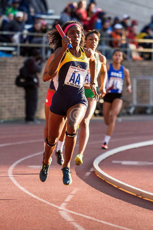 Penn Relays, college women sprint medley relay, UTech,