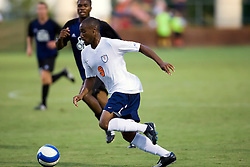 Virginia Cavaliers forward Matt Mitchell (9) in action against ODU.  The Virginia Cavaliers defeated the Old Dominion Monarchs 3-0 in a pre-season NCAA Men's Soccer exhibition game held at Klockner Stadium on the Grounds of the University of Virginia in Charlottesville, VA on August 23, 2008.