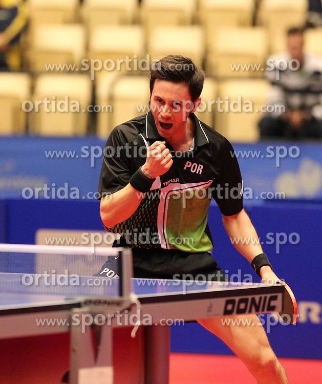 20.10.2012, MGH Arena, Herning, DEN, ETTU, Tischtennis Europameisterschaft, im Bild Joao MONTEIRO (POR) ballt die Faust nach einem Punktgewinn // during the Table Tennis European Championships at the MGH Arena, Herning, Denmark on 2012/10/20. EXPA Pictures © 2012, PhotoCredit: EXPA/ Eibner/  Wuest..*****ATTENTION - OUT OF GER *****