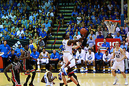 November 23 2015: UCLA Bruins guard Aaron Holiday drives to the hoop during the Maui Invitational at  Lahaina Civic Center on Maui, HI. (Photo by Aric Becker)