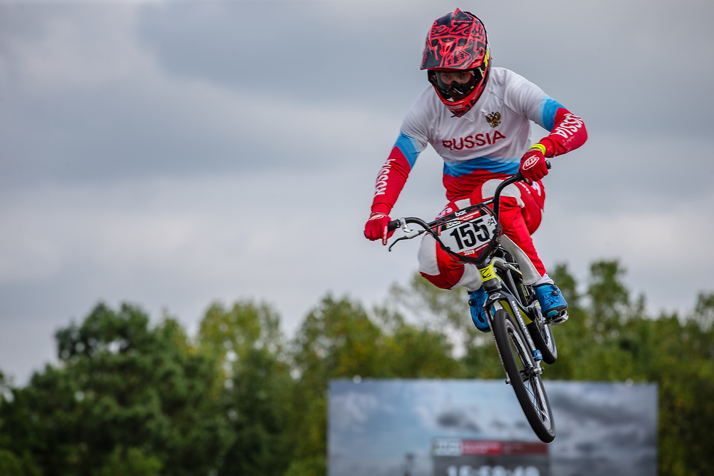 at Round 8 of the 2019 UCI BMX Supercross World Cup in Rock Hill, USA