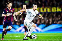 Zlatan Ibrahimovic - 21.04.2015 - Barcelone / Paris Saint Germain - 1/4Finale Retour Champions League<br /> Photo : Stiller / Bildbyran / Icon Sport
