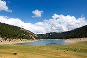 Aguelmane Azigza lake in the Middle Atlas Mountains in Morocco near Khenifra
