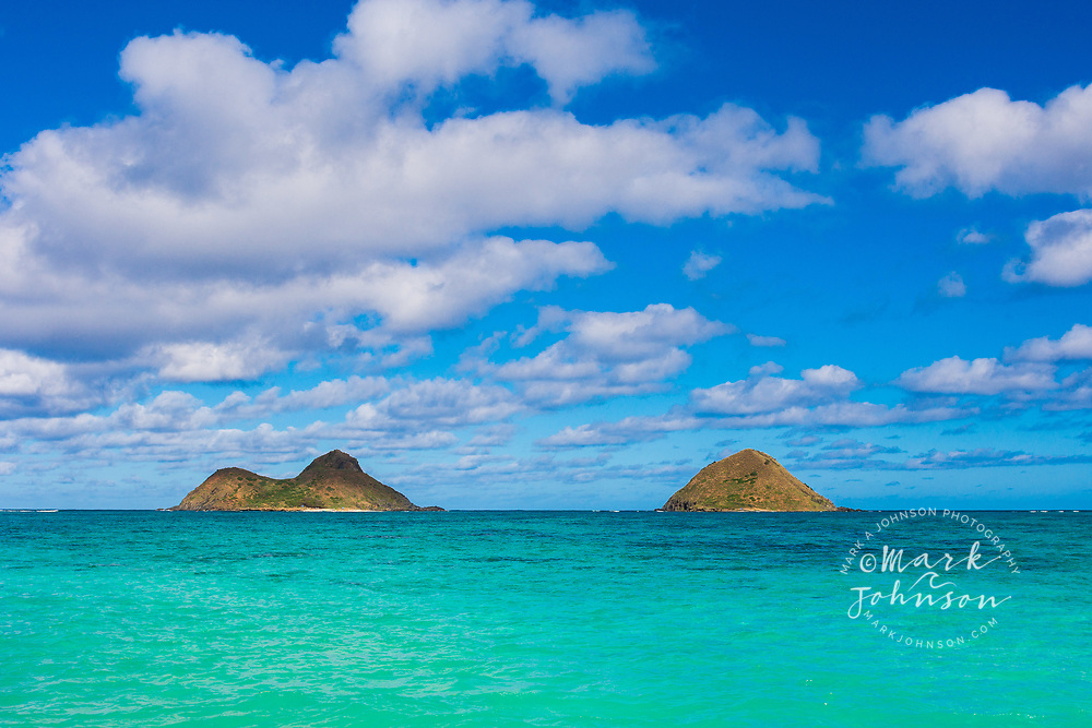 Mokulua Islands, Lanikai Beach, Kailua Bay, Oahu, Hawaii