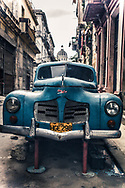 Vintage Antique Classic 1950s Car in Havana Cuba