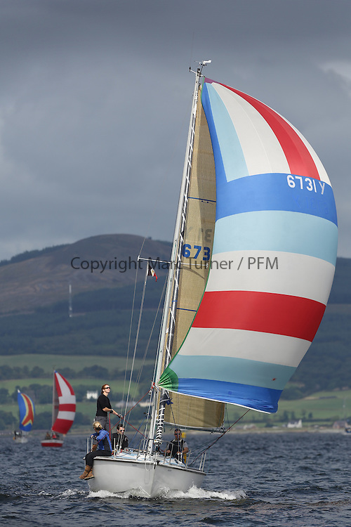 Peelport Clydeport Largs Regatta Week 2013 <br /> <br /> Class 3, 6731Y, Zebedee, GK24, Garth Wilson/Lucy Downie, FYC<br /> <br /> Largs Sailing Club, Largs Yacht Haven, Scottish Sailing Institute
