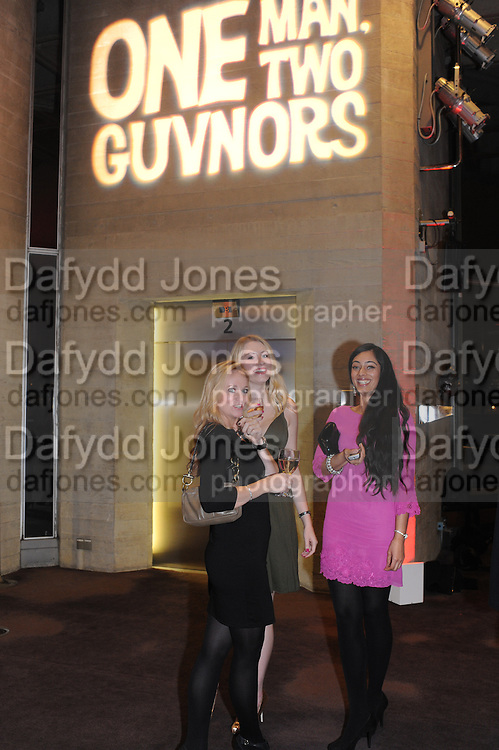 DAWN-LOUISE; SCARLET STEEN; PAVANDEEP CHAGGAR;, Opening party to celebrate the adelphi Theatre  West End transfer of National Theatre's One Man, Two Guvnors. National Theatre. South Bank. London. 21 November 2011.  *** Local Caption *** -DO NOT ARCHIVE-© Copyright Photograph by Dafydd Jones. 248 Clapham Rd. London SW9 0PZ. Tel 0207 820 0771. www.dafjones.com.<br /> DAWN-LOUISE; SCARLET STEEN; PAVANDEEP CHAGGAR;, Opening party to celebrate the adelphi Theatre  West End transfer of National Theatre's One Man, Two Guvnors. National Theatre. South Bank. London. 21 November 2011.