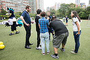 Tottenham Hotspur F.C held a charity coaching session on 26 May 2017 at Wah Yan College, HONG KONG.<br /> Photo by MozImages.