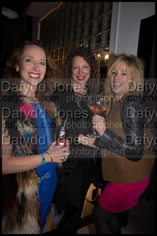 RADIO GEORGEOUS; AMANDA RUIZ; DONNA FREED; JOSEPHINE PEMBROKE, Opening of the Trouble Club., Lexington St. Soho London. 6 November 2014