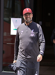 SOUTH BEND, INDIANA, USA - Tuesday, July 16, 2019: Liverpool's manager Jürgen Klopp departs the team hotel in South Bend for their first training session at the start of the club's pre-season tour of America. (Pic by David Rawcliffe/Propaganda)
