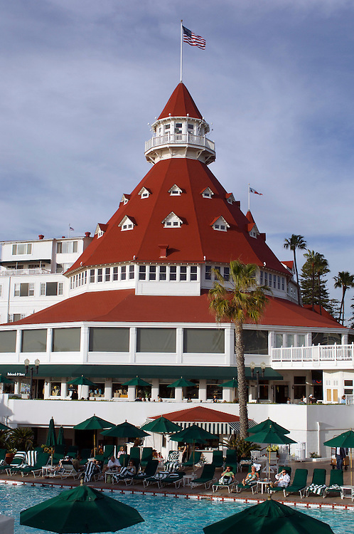 Pool and Hotel del Coronado, Coronado Beach, San Diego, California, United States of America