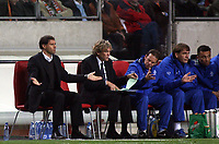 Photo: Paul Thomas.<br /> Holland v England. International Friendly. 15/11/2006.<br /> <br /> Marco van Basten (L) the Dutch manager can't believe his team's luck.