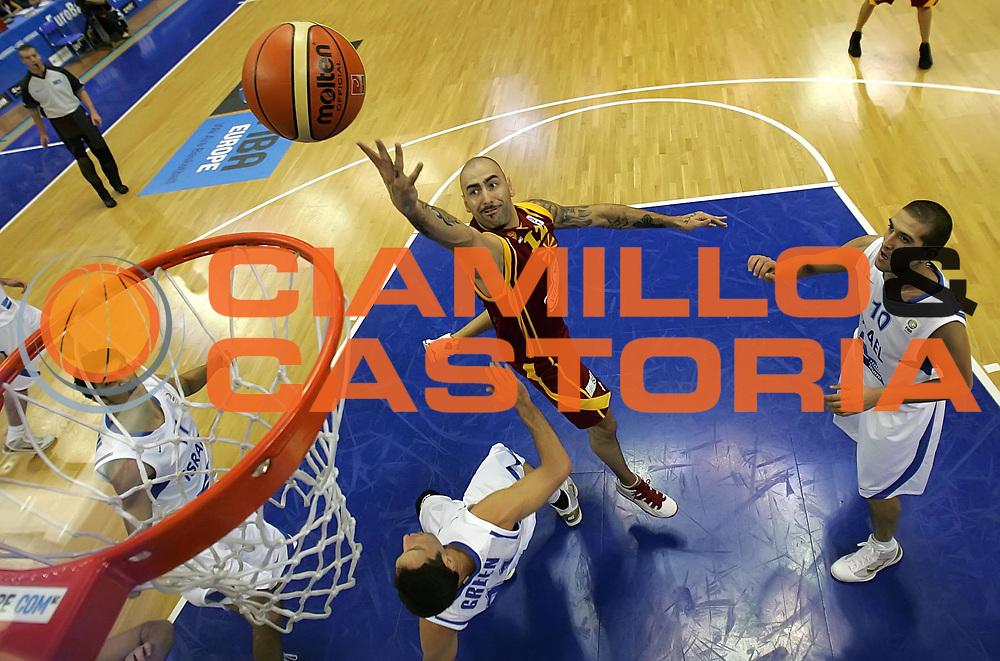 DESCRIZIONE : Poznan Poland Polonia Eurobasket Men 2009 Preliminary Round  Israele Macedonia Israel F.Y.R. of Macedonia<br /> GIOCATORE : Pero Antic<br /> SQUADRA : Macedonia F.Y.R. of Macedonia<br /> EVENTO : Eurobasket Men 2009<br /> GARA : Israele Macedonia Israel F.Y.R. of Macedonia<br /> DATA : 08/09/2009 <br /> CATEGORIA : tiro shot<br /> SPORT : Pallacanestro <br /> AUTORE : Agenzia Ciamillo-Castoria/A.Vlachos<br /> Galleria : Eurobasket Men 2009 <br /> Fotonotizia : Poznan Poland Polonia Eurobasket Men 2009 Preliminary Round Israele Macedonia Israel F.Y.R. of Macedonia<br /> Predefinita :